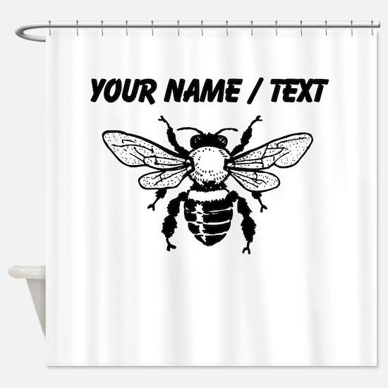 Custom Honey Bee Shower Curtain