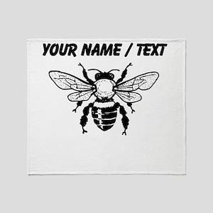Custom Honey Bee Throw Blanket