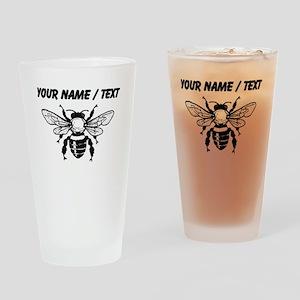 Custom Honey Bee Drinking Glass