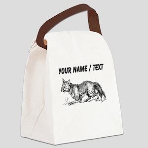 Custom Fox Canvas Lunch Bag
