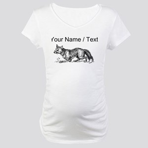 Custom Fox Maternity T-Shirt