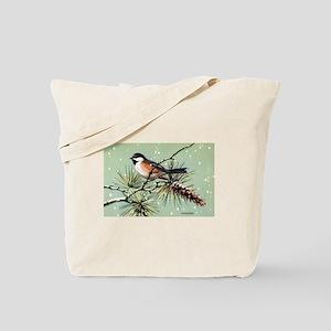 Chickadee Bird Tote Bag