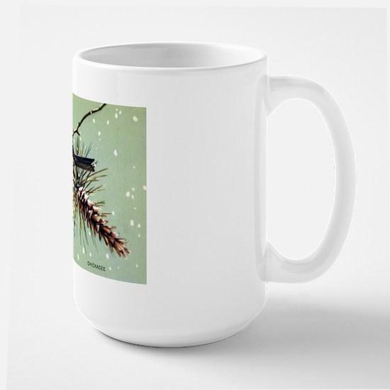Chickadee Bird Large Mug