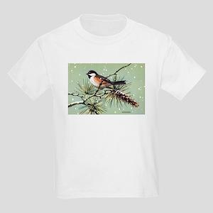 Chickadee Bird (Front) Kids Light T-Shirt