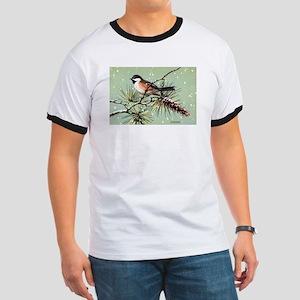 Chickadee Bird (Front) Ringer T