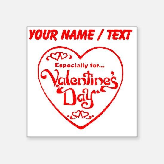 Custom Red Valentines Day Heart Sticker