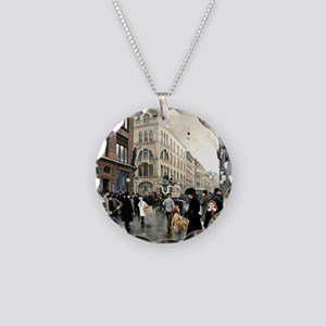 View of the Stroget, Copenha Necklace Circle Charm