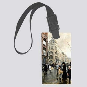 View of the Stroget, Copenhagen; Large Luggage Tag