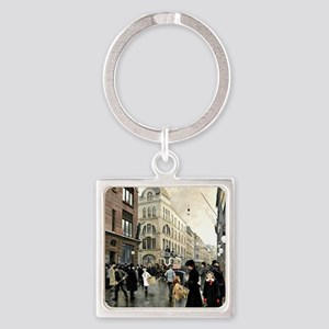 View of the Stroget, Copenhagen; P Square Keychain