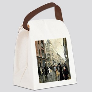 View of the Stroget, Copenhagen;  Canvas Lunch Bag