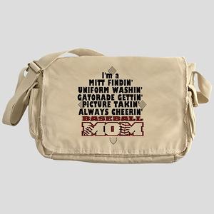 Baseball Mom Messenger Bag