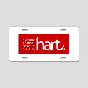Hart Red Aluminum Aluminum License Plate