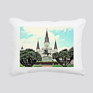 jackson square #1 Rectangular Canvas Pillow