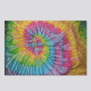 rainbow aura twirl tiedye Postcards (Package of 8)