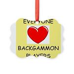 backgammon Ornament