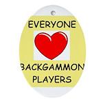 backgammon Ornament (Oval)