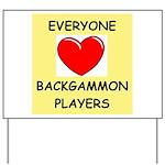 backgammon Yard Sign