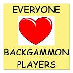 backgammon Square Car Magnet 3