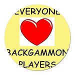 backgammon Round Car Magnet