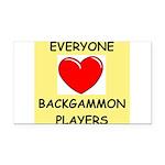 backgammon Rectangle Car Magnet