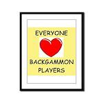 backgammon Framed Panel Print