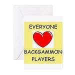 backgammon Greeting Cards