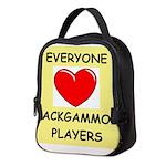 backgammon Neoprene Lunch Bag