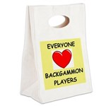 backgammon Canvas Lunch Tote