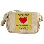 backgammon Messenger Bag