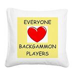 backgammon Square Canvas Pillow