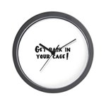 Get Back in Your Cage! Wall Clock