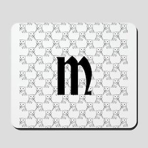 Monogram and Cheetahs Mousepad