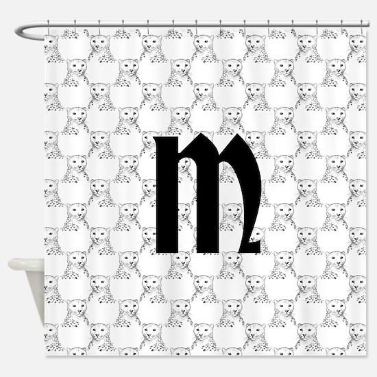 Monogram and Cheetahs Shower Curtain