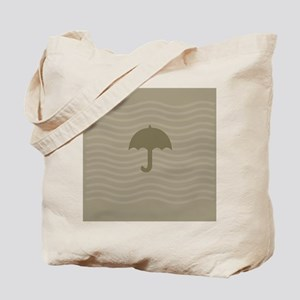 Sage Umbrella Waves Tote Bag