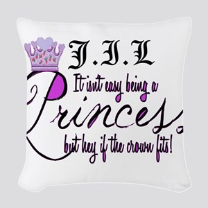 Personalize Princess Woven Throw Pillow