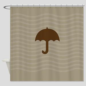 Chocolate Brown Sand Shower Curtain