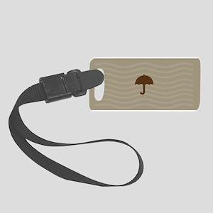 Chocolate Brown Sand Small Luggage Tag