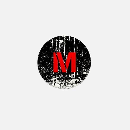Industrial Style Monogram Mini Button