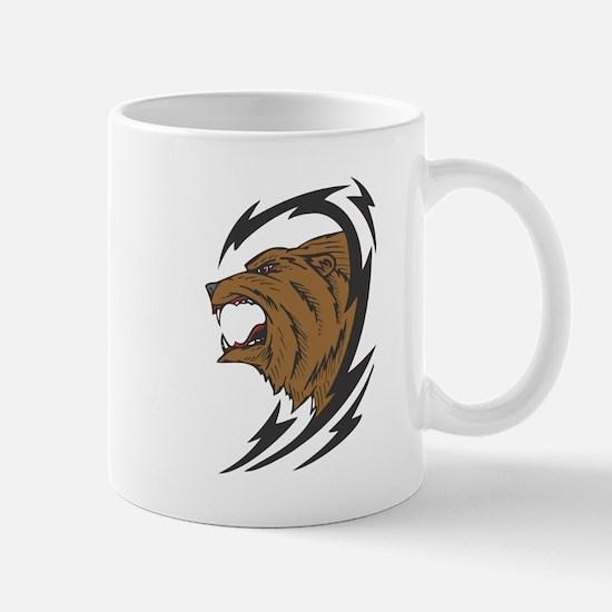 Tribal Grizzly Bear Design Mug