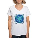 Celtic Planet Women's V-Neck T-Shirt