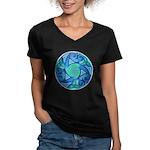 Celtic Planet Women's V-Neck Dark T-Shirt
