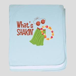 Whats Shakin baby blanket