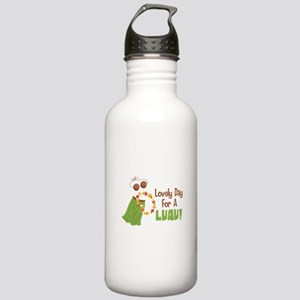 Lovely Day For A Luau! Water Bottle