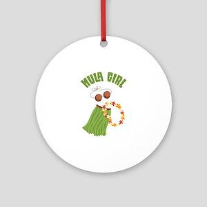 Hula Girl Ornament (Round)