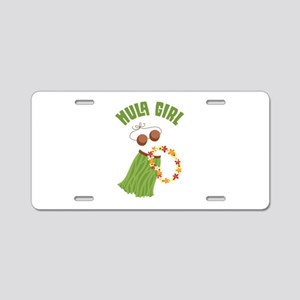 Hula Girl Aluminum License Plate