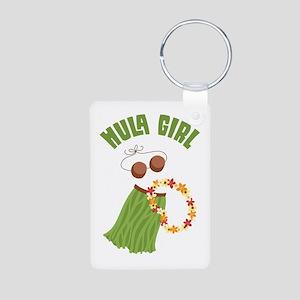 Hula Girl Keychains