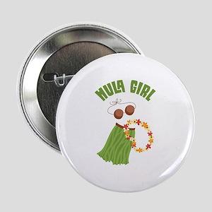 "Hula Girl 2.25"" Button"
