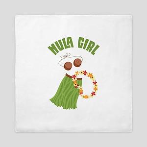 Hula Girl Queen Duvet