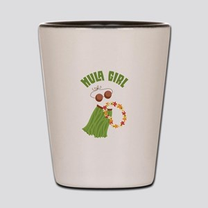 Hula Girl Shot Glass