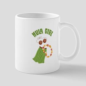 Hula Girl Mugs